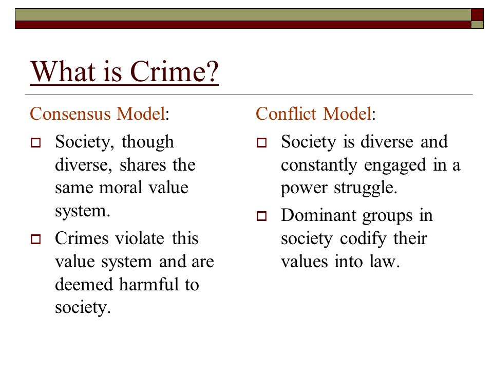 What is Crime Consensus Model: