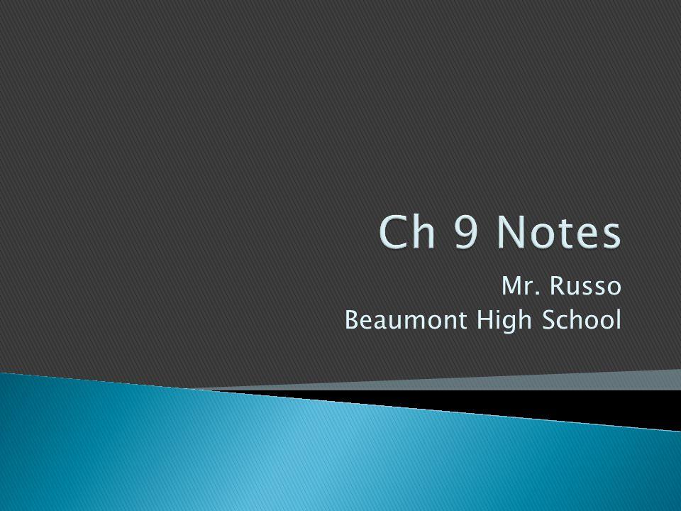Mr. Russo Beaumont High School