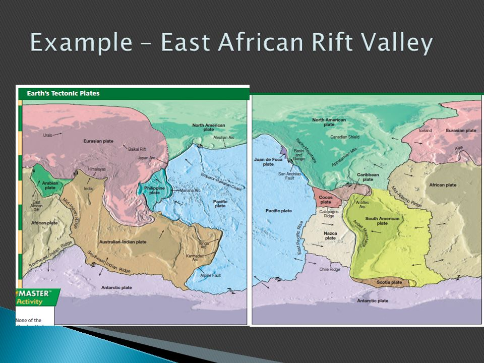 Example – East African Rift Valley