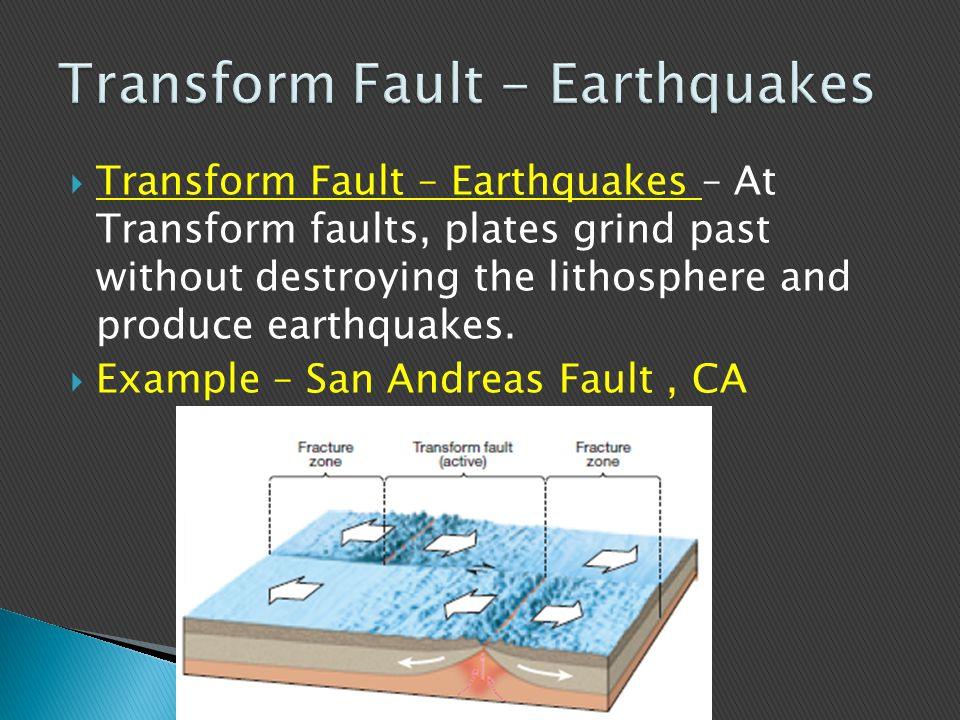 Transform Fault - Earthquakes