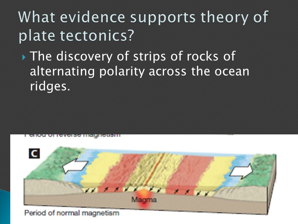 What evidence supports theory of plate tectonics