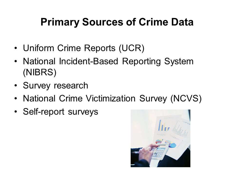 Primary Sources of Crime Data