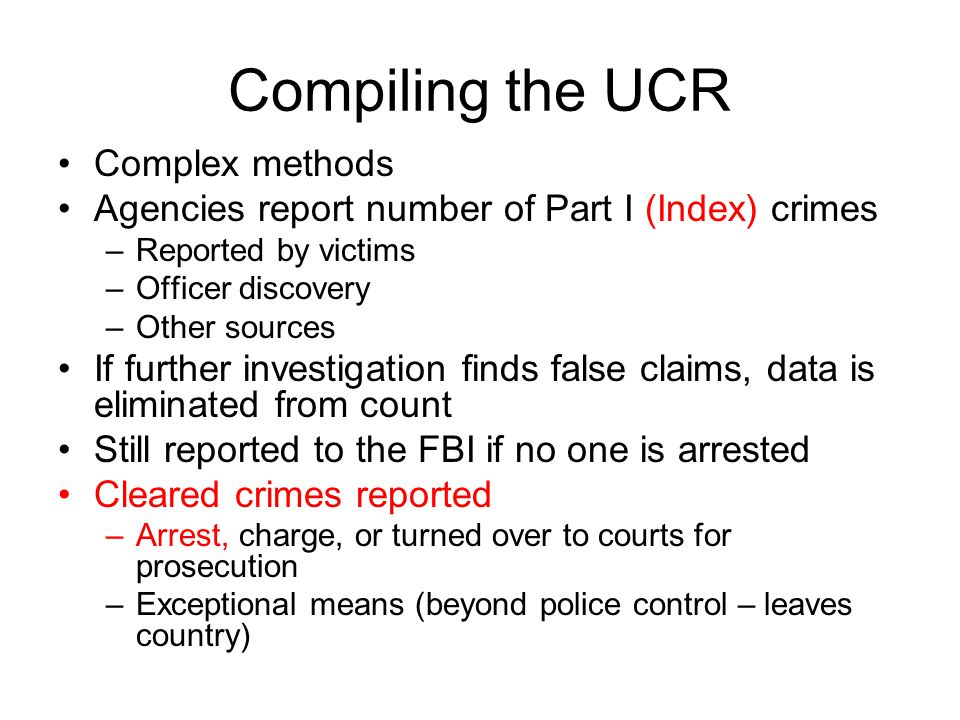 Compiling the UCR Complex methods