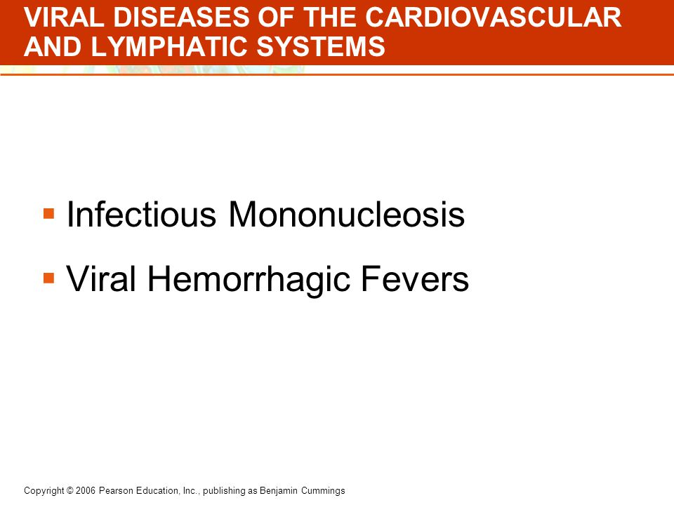 VIRAL DISEASES OF THE CARDIOVASCULAR AND LYMPHATIC SYSTEMS