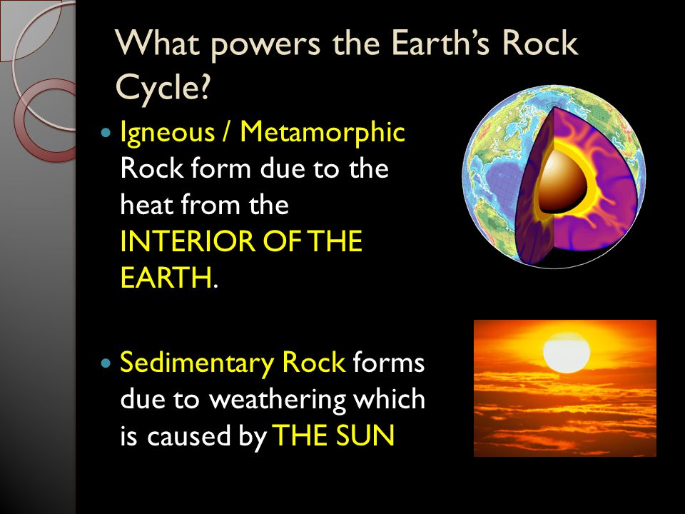 What powers the Earth's Rock Cycle