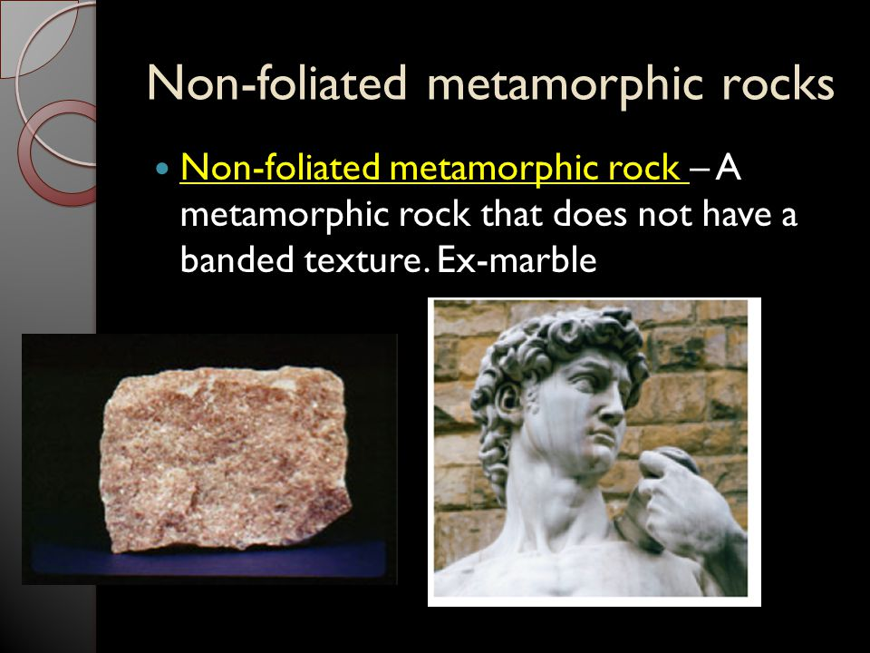 Non-foliated metamorphic rocks