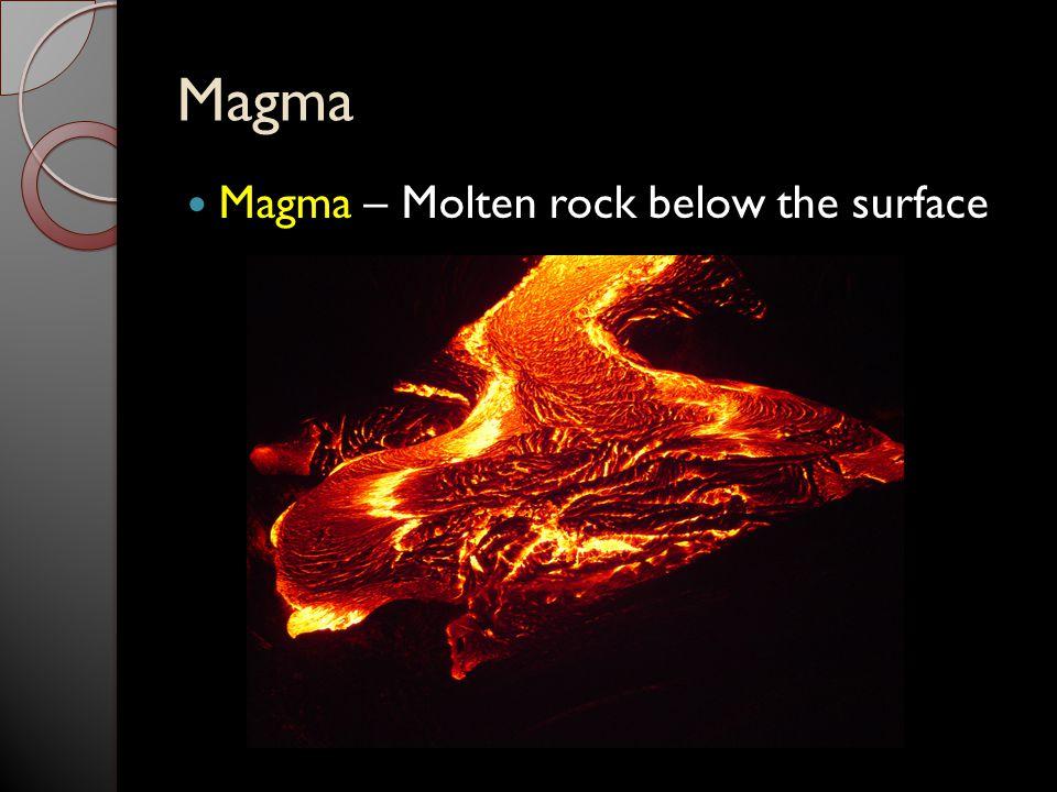 Magma Magma – Molten rock below the surface