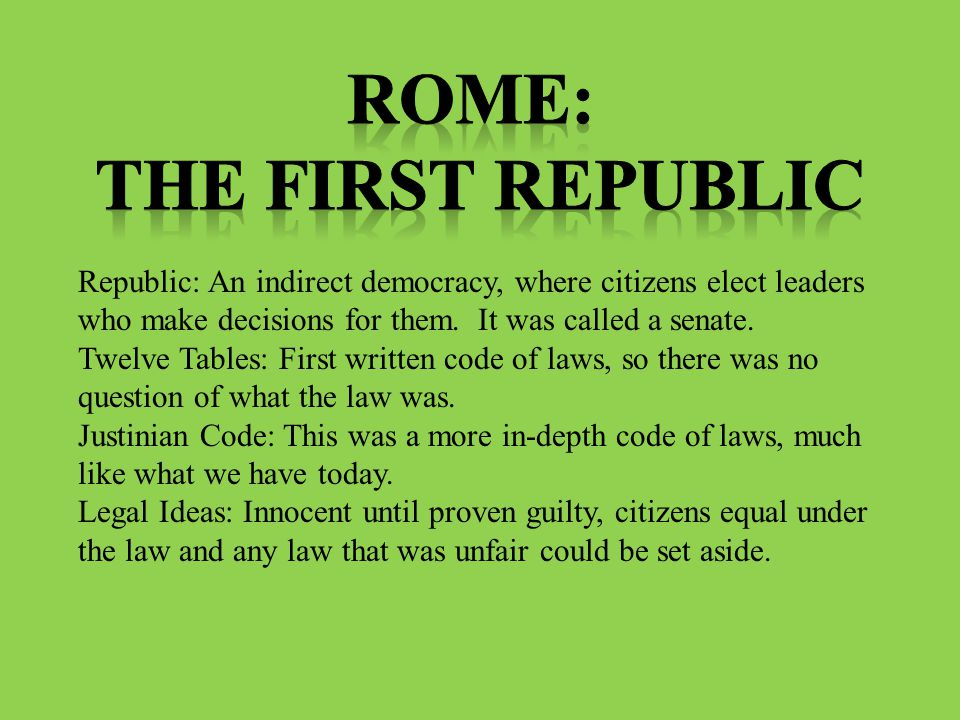 Rome: The First Republic