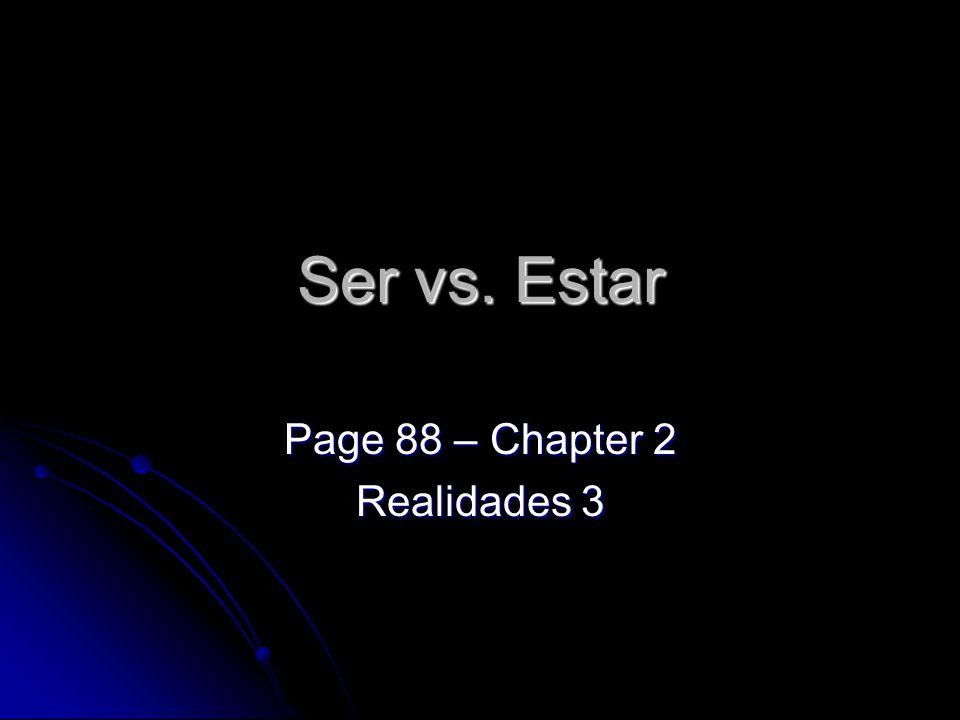 Page 88 – Chapter 2 Realidades 3