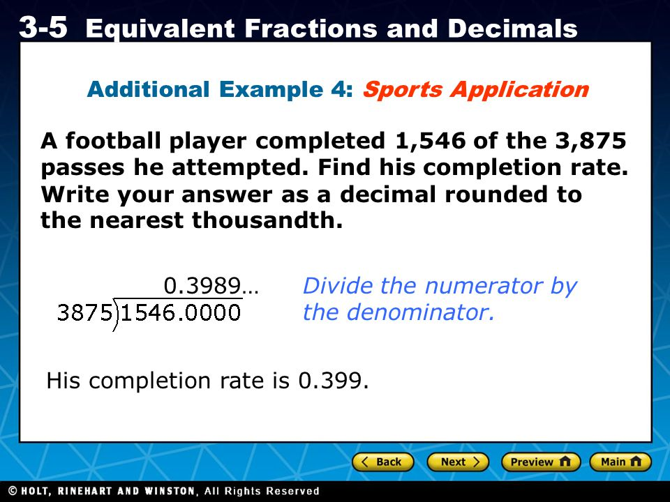 Additional Example 4: Sports Application