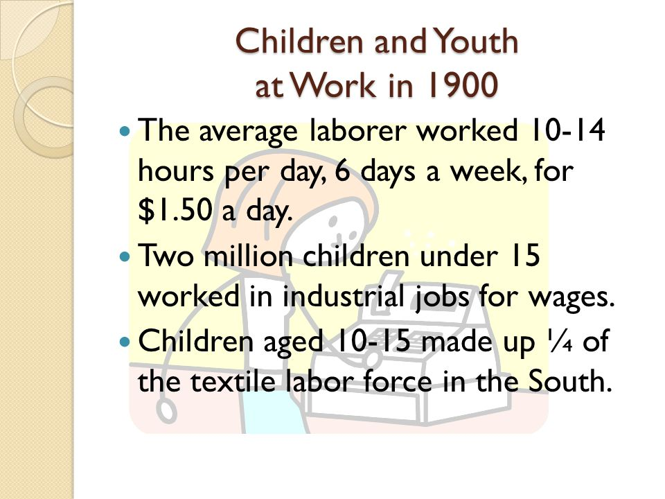 Children and Youth at Work in 1900