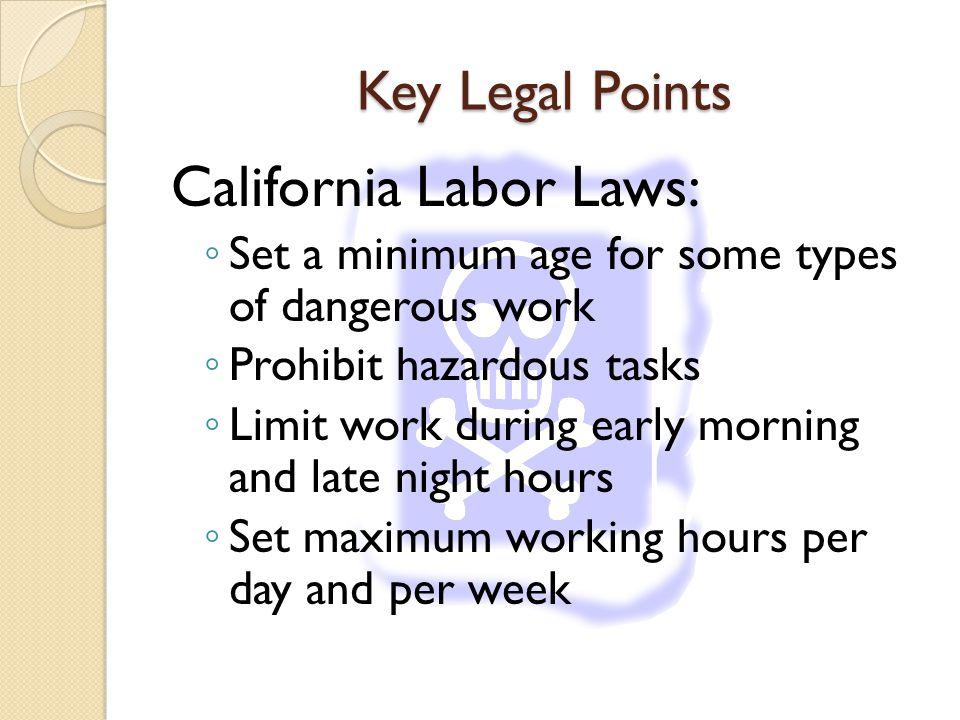 California Labor Laws: