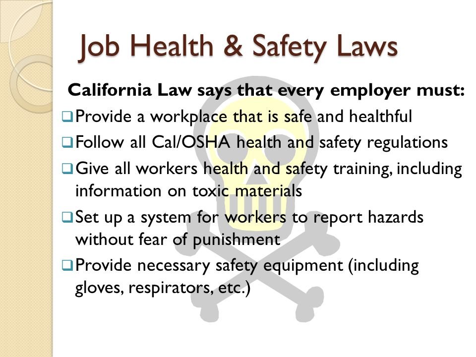 Job Health & Safety Laws