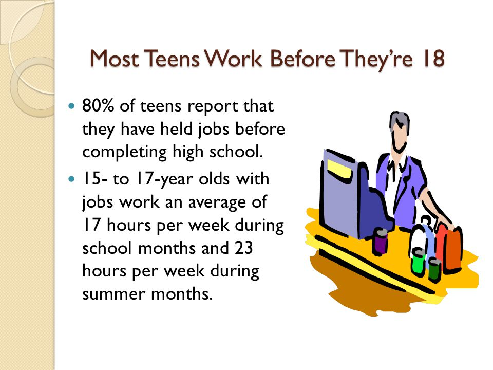 Most Teens Work Before They're 18