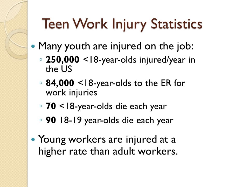 Teen Work Injury Statistics