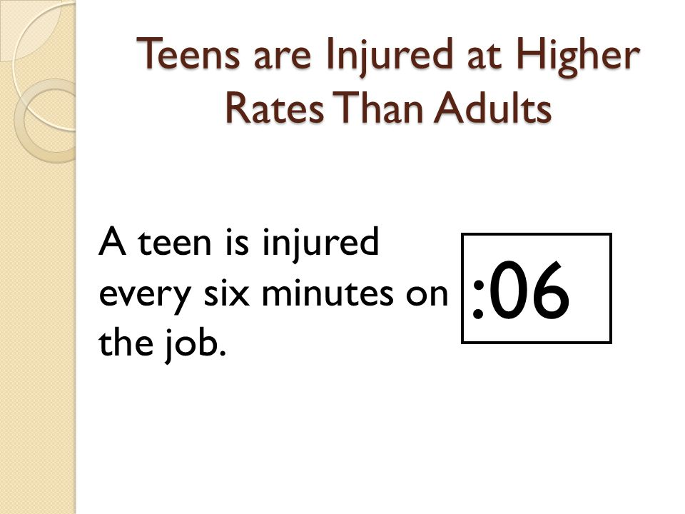 Teens are Injured at Higher Rates Than Adults
