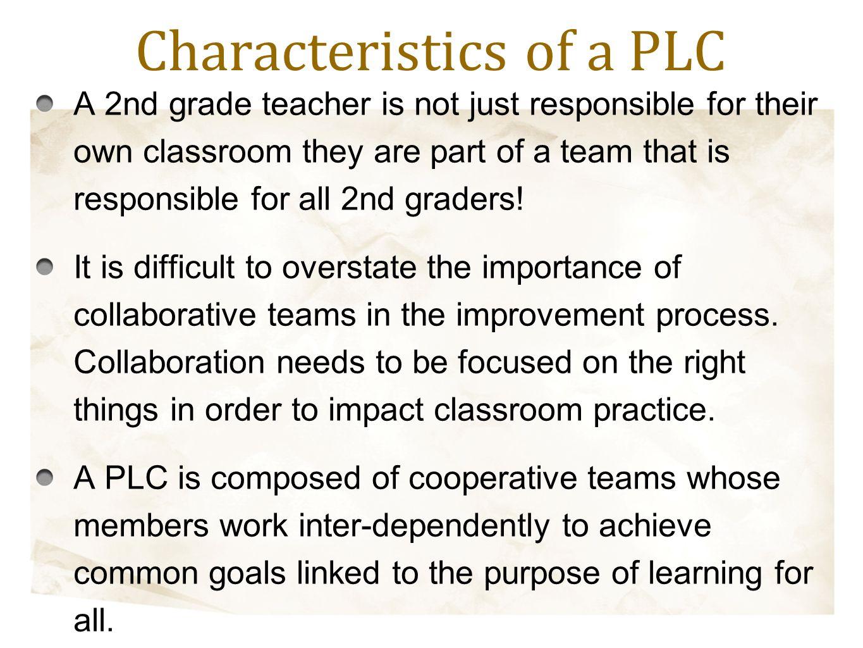 Characteristics of a PLC