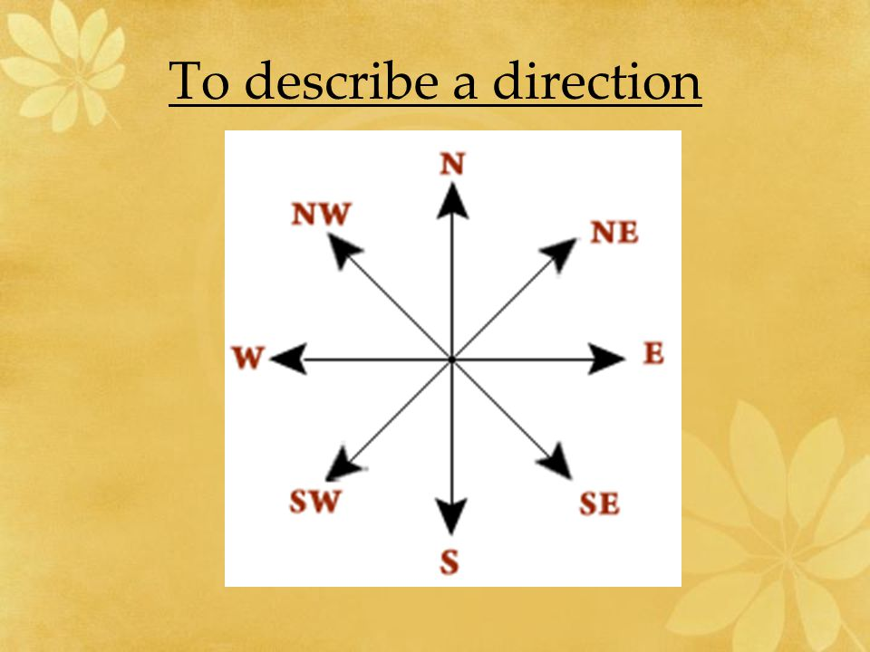 To describe a direction