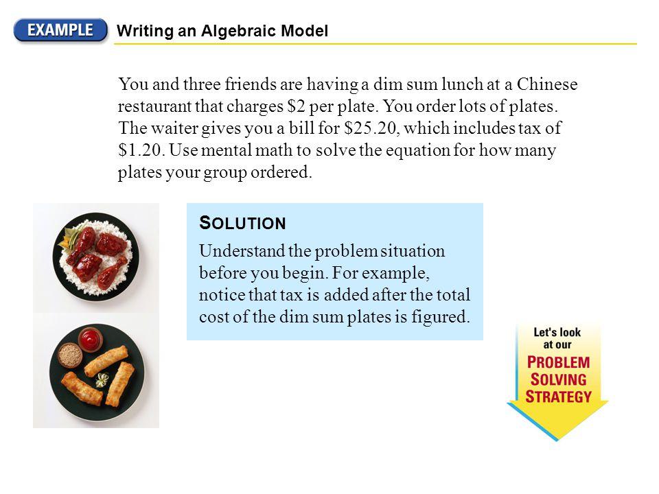 Writing an Algebraic Model