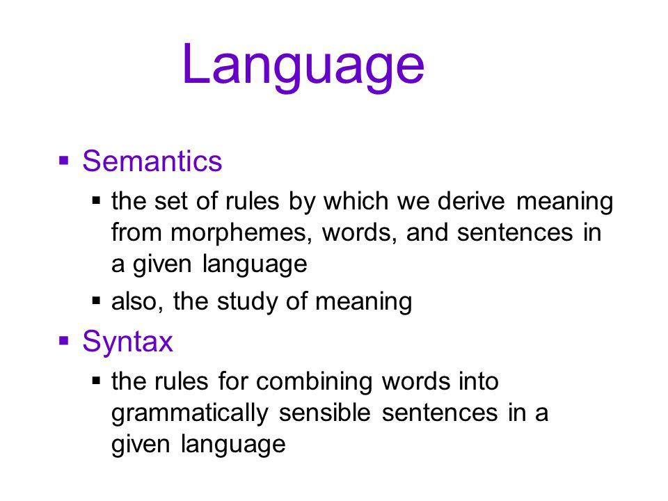 Language Semantics Syntax