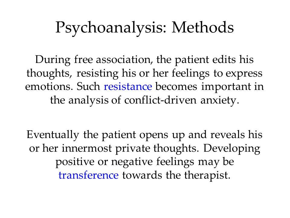Psychoanalysis: Methods
