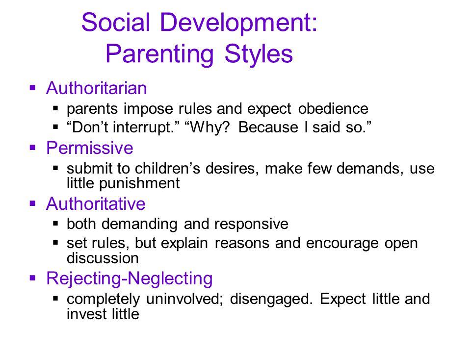 Social Development: Parenting Styles