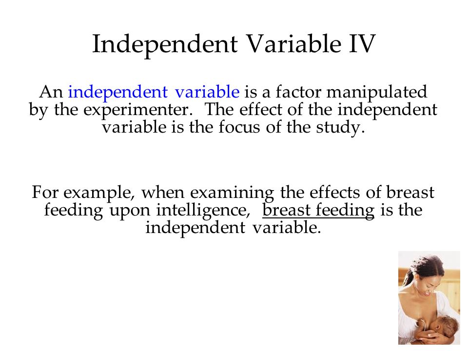 Independent Variable IV