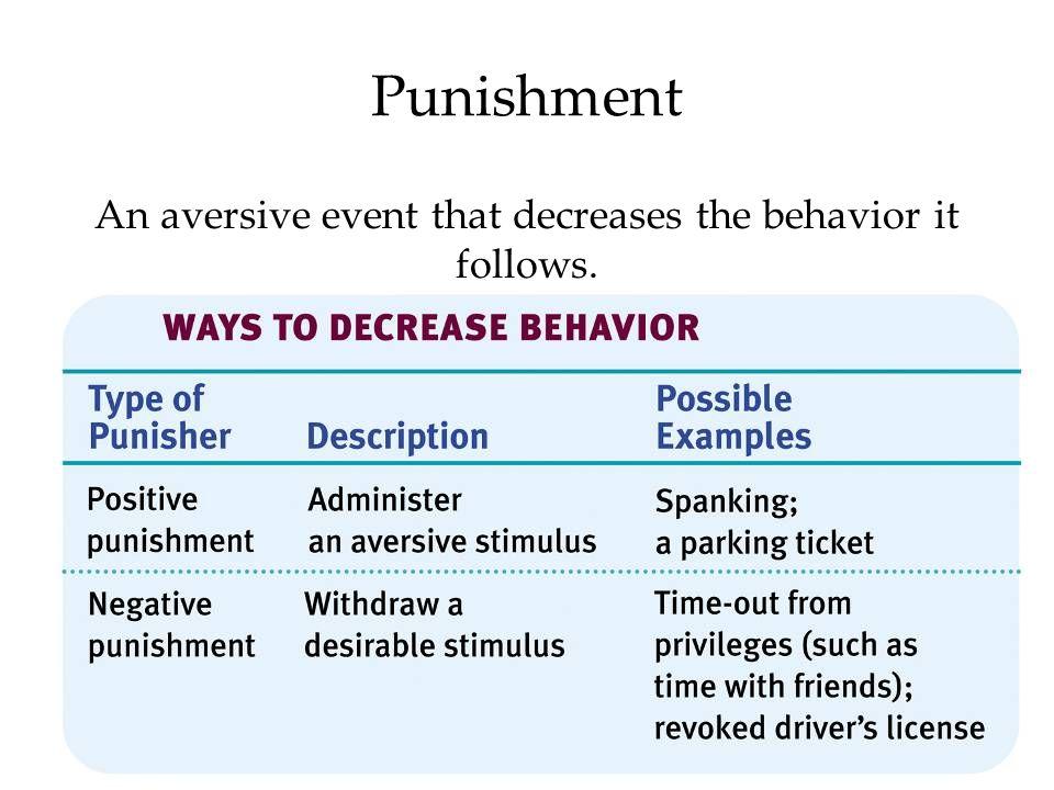 An aversive event that decreases the behavior it follows.