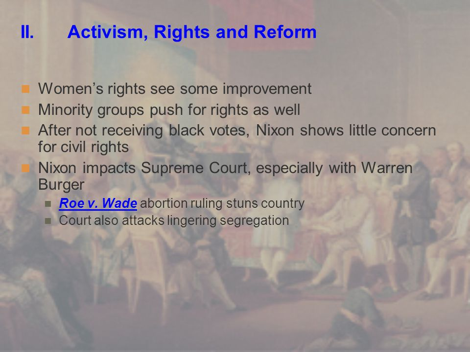 II. Activism, Rights and Reform