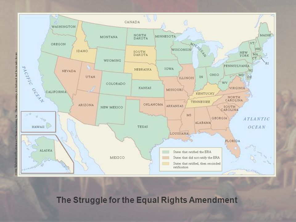 The Struggle for the Equal Rights Amendment