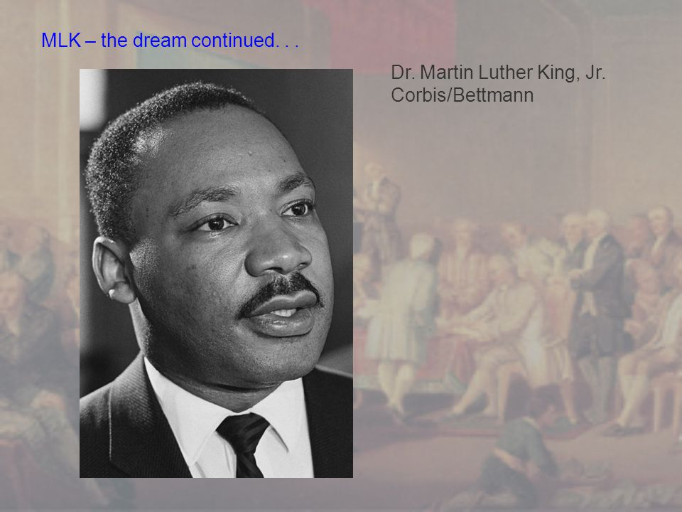 MLK – the dream continued. . .