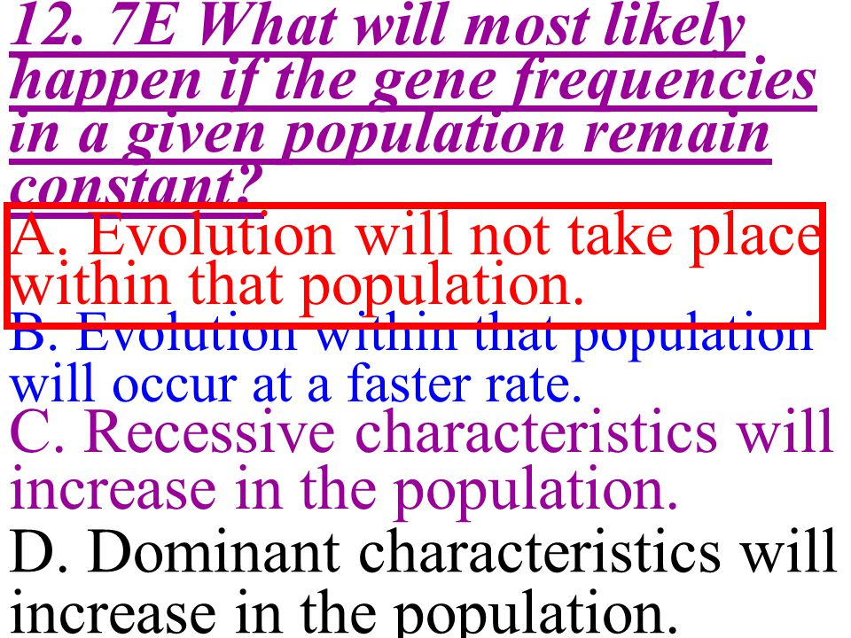 A. Evolution will not take place within that population.