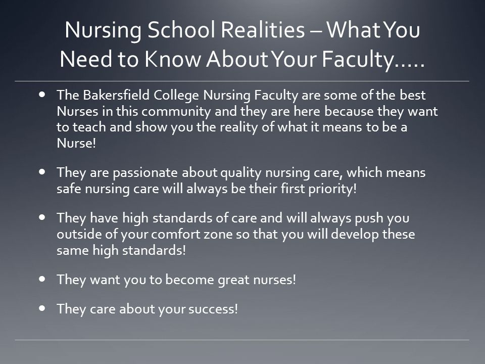 Nursing School Realities – What You Need to Know About Your Faculty…..