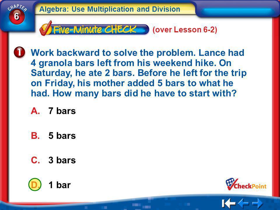 (over Lesson 6-2)