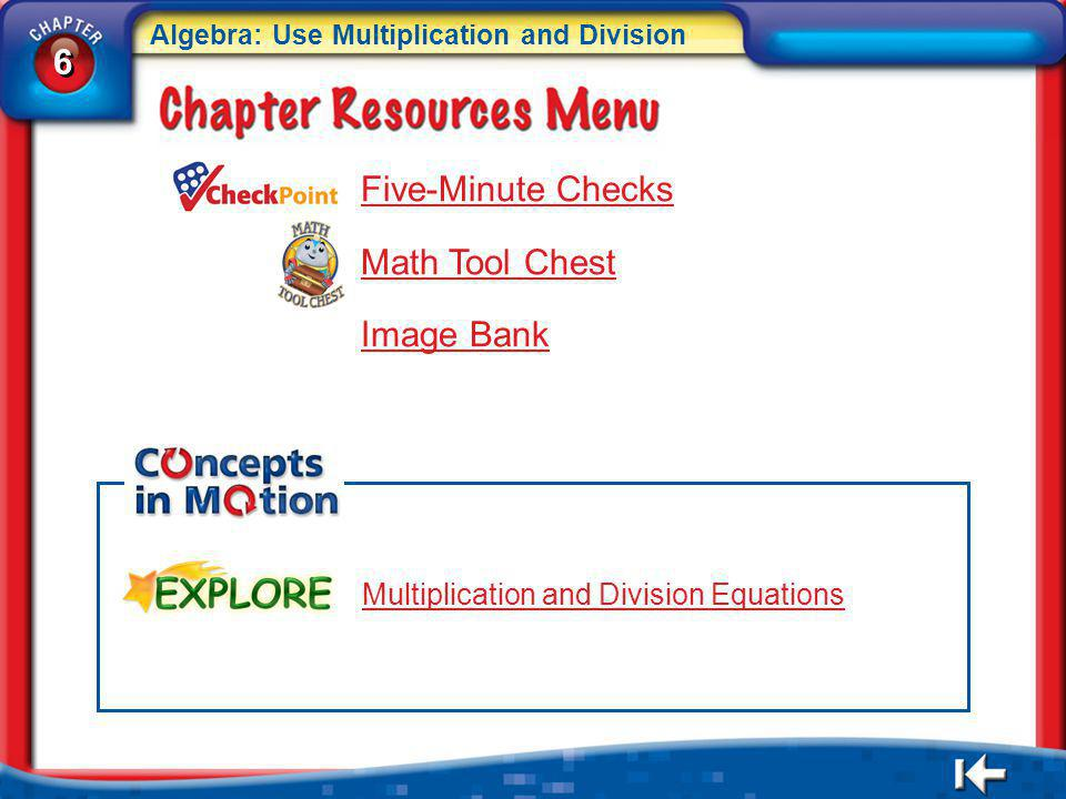 6 Five-Minute Checks Math Tool Chest Image Bank