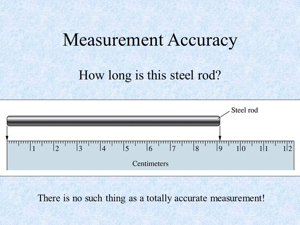 Measurement Accuracy How long is this steel rod