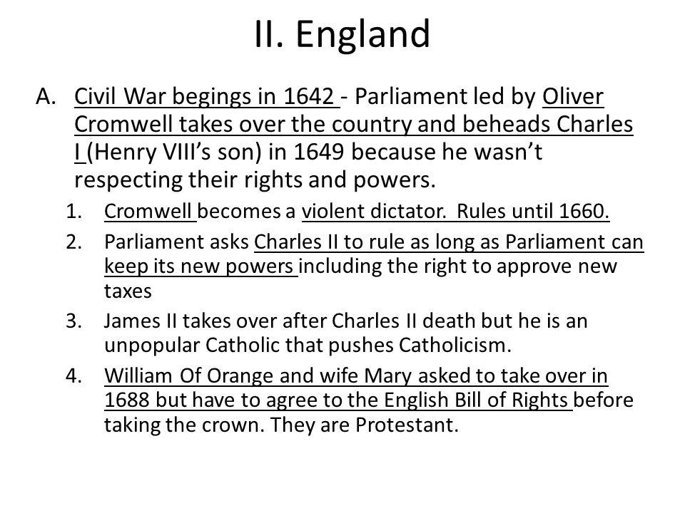 II. England