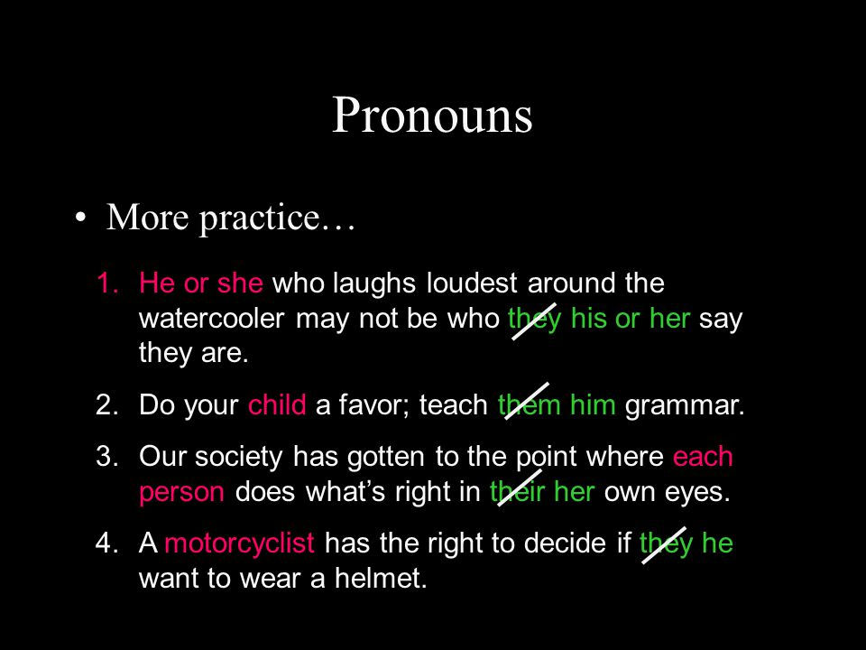 Pronouns More practice…
