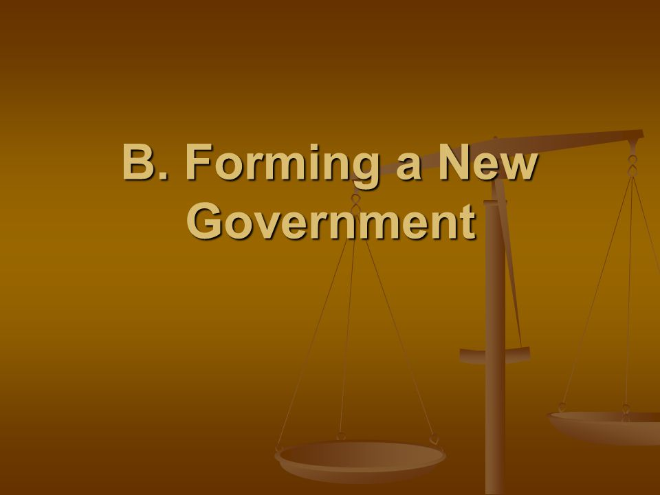 B. Forming a New Government