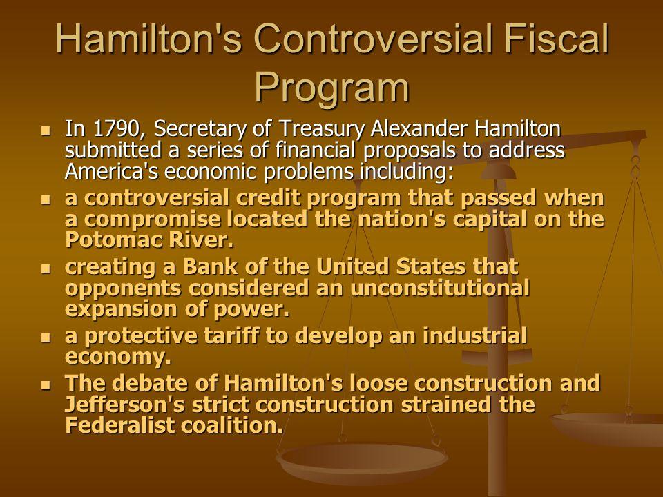 Hamilton s Controversial Fiscal Program