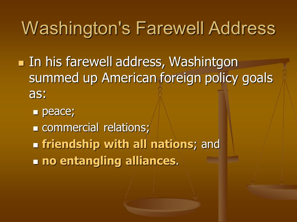 Washington s Farewell Address