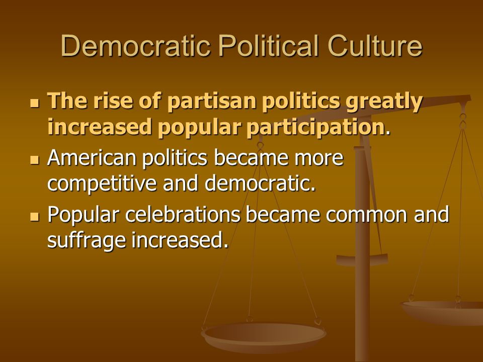 Democratic Political Culture