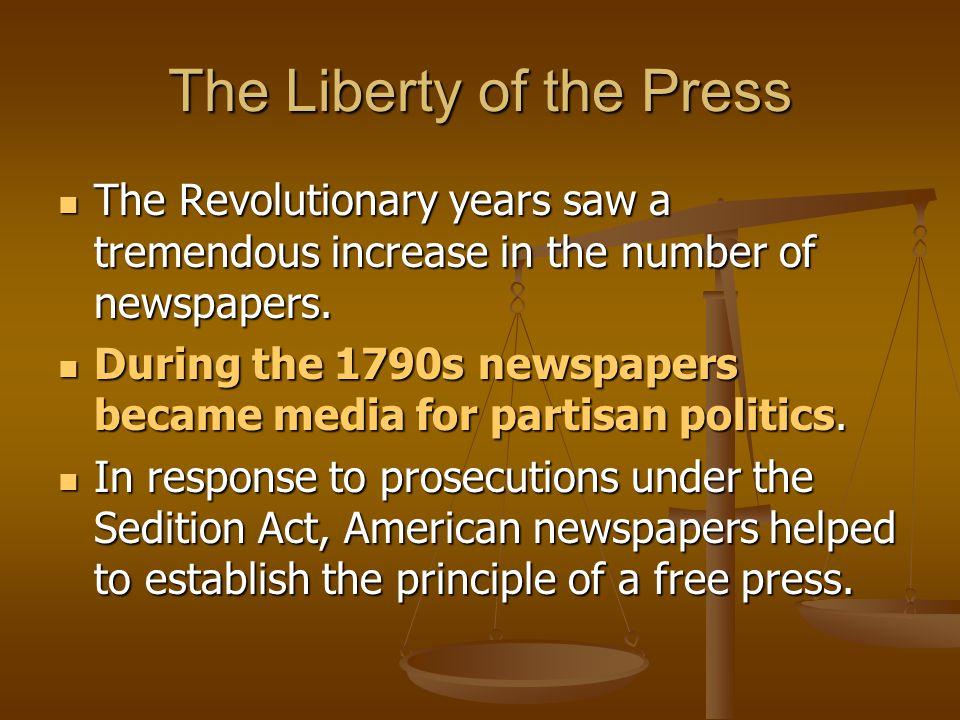 The Liberty of the Press