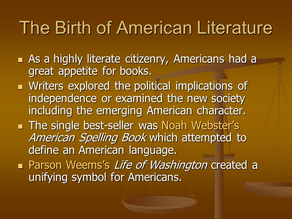 The Birth of American Literature