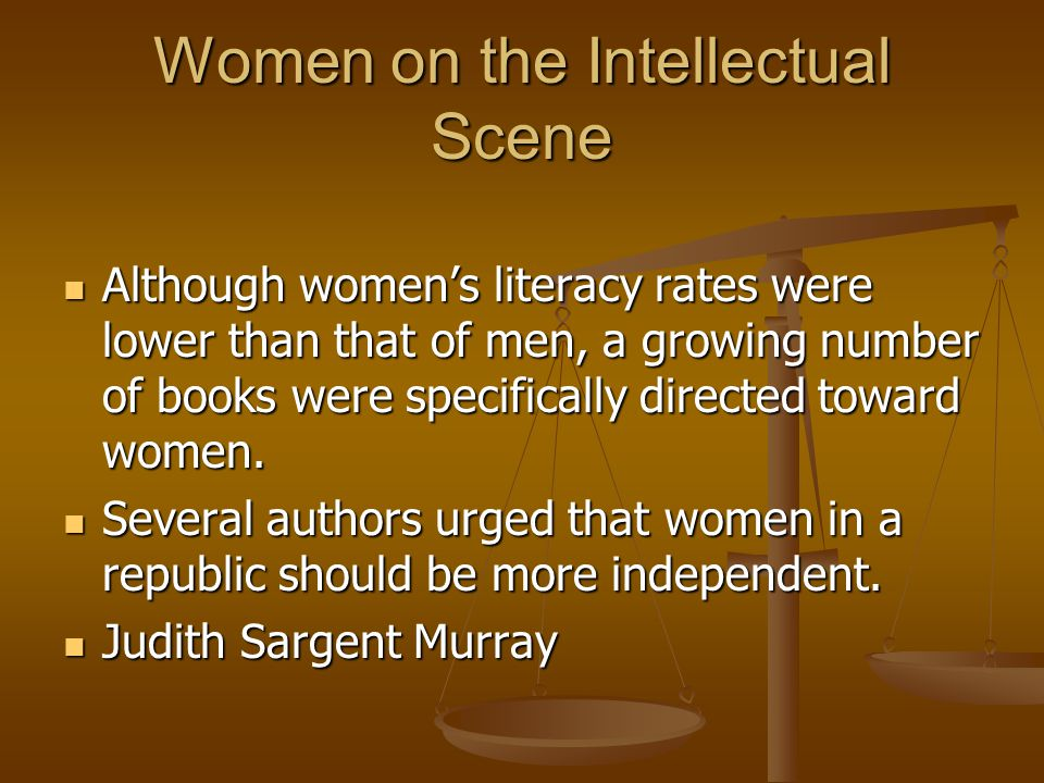 Women on the Intellectual Scene