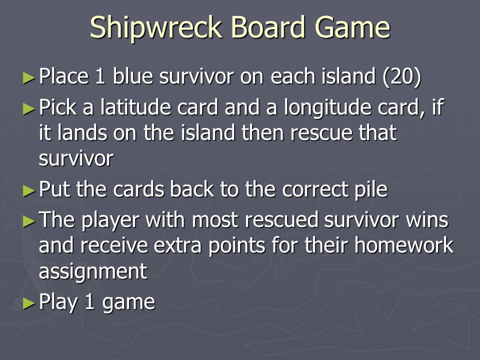 Shipwreck Board Game Place 1 blue survivor on each island (20)