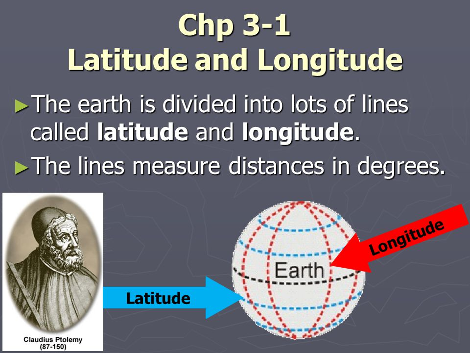 Chp 3-1 Latitude and Longitude