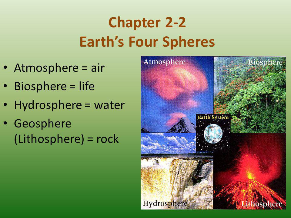 Chapter 2-2 Earth's Four Spheres