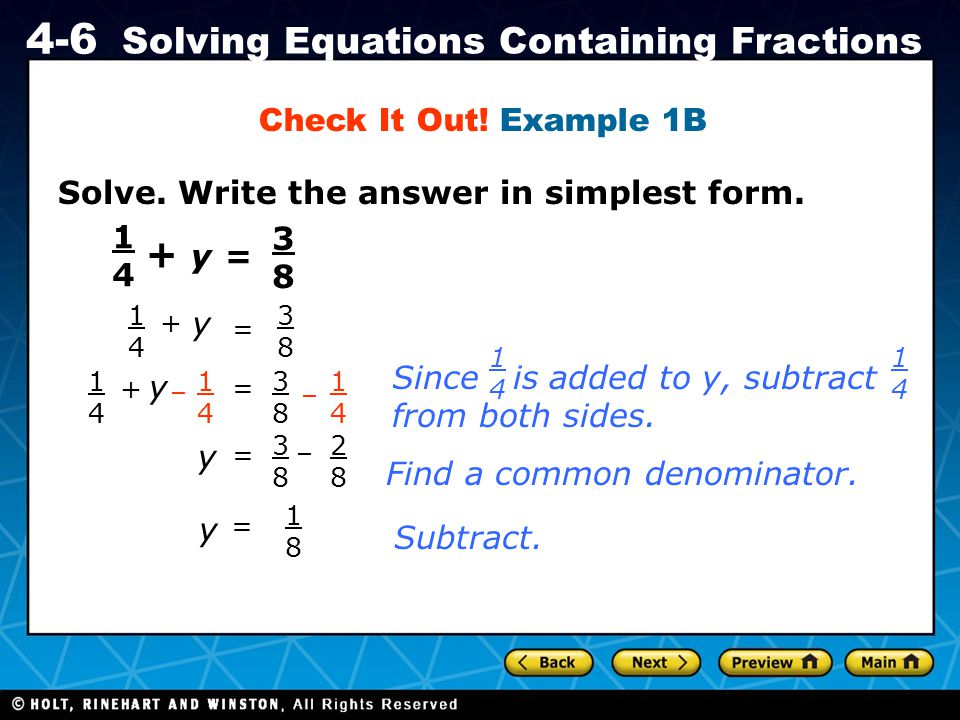 + y = Check It Out! Example 1B
