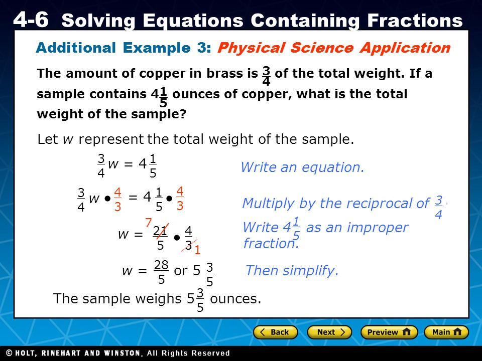 Additional Example 3: Physical Science Application